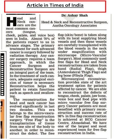 Article Of Times Of India