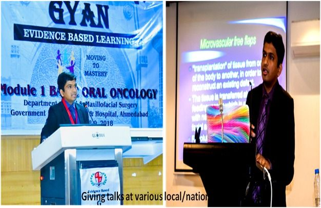 Giving Talk to various Location