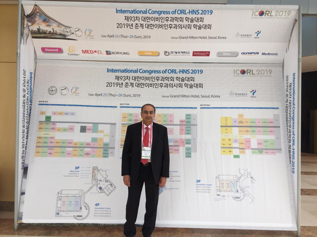 Dr. Rajendra Toprani - International Congress of ORL-HNS 2019 (ICORL 2019) Korea